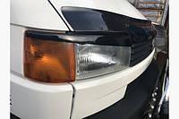 Реснички Прямой капот (2 шт, черные) Volkswagen Transporter T4 1998+