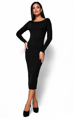 (S, M, L, XL) Зручне вечірнє чорне плаття-максі Ramina