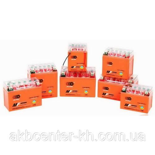 Мото аккумуляторы YTX 9-BS(GEL) OUTDO (12V, 9A) (оранж)