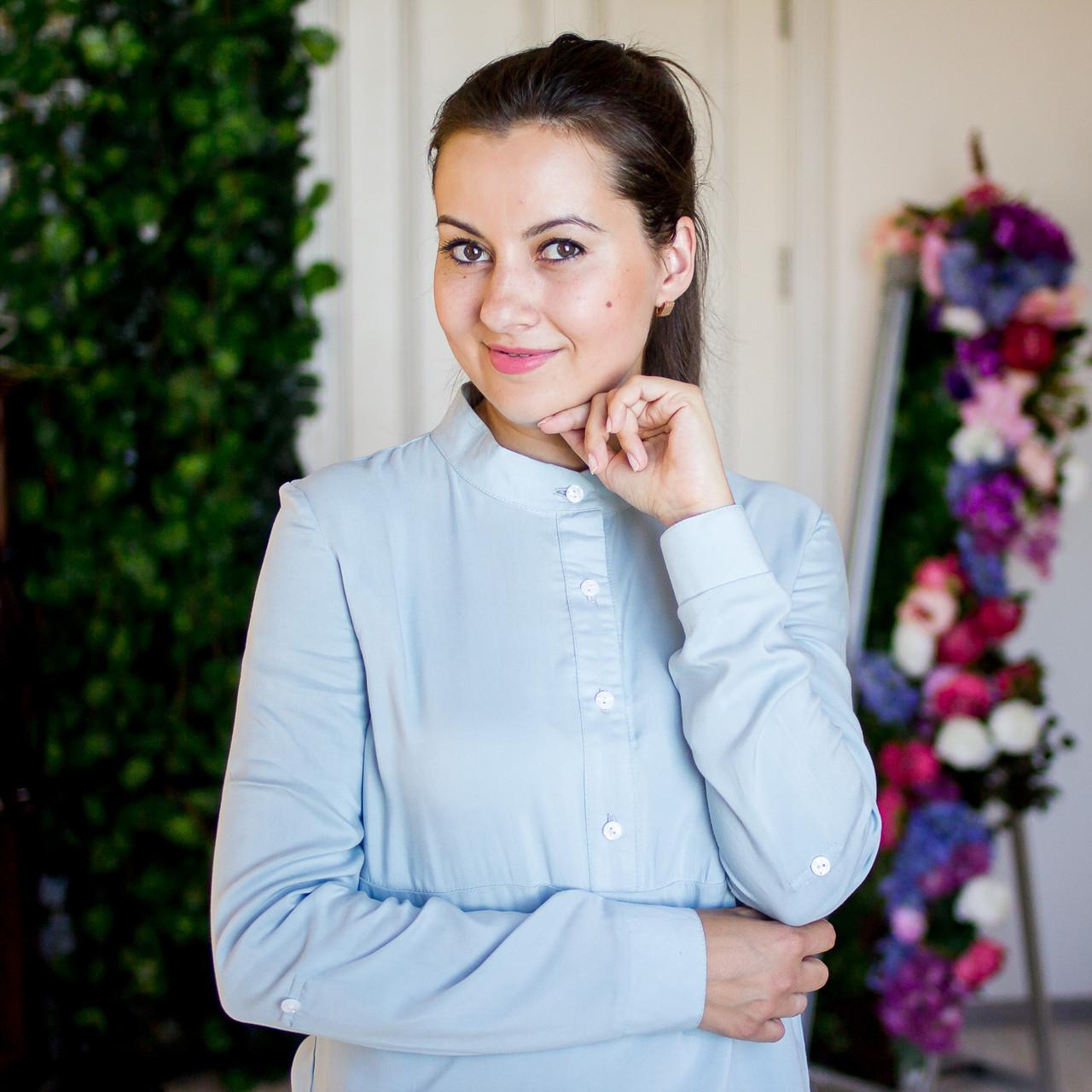 1a4439eec261 Летняя блузка для кормящих мам голубого цвета 42-48 р за 580 грн. в ...