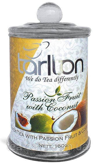 Чай чорний Tarlton Passion Frui with Coconut (Плід  Пристрасті) с/б 160 гр.