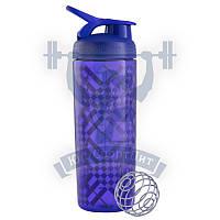 Tartan Plaid Purple BlenderBottle® SportMixer™ Sleek - 28oz / 820ml спортивный шейкер для спортивного питания