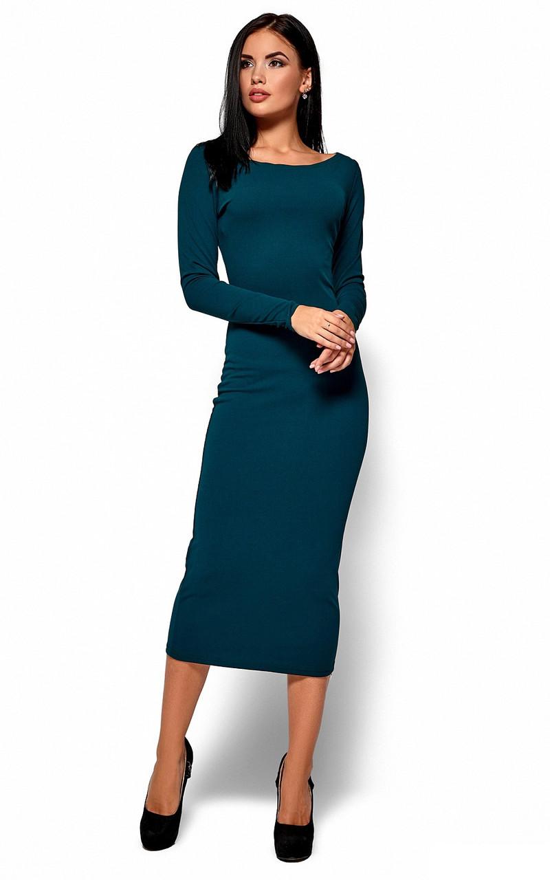 (XL / 48-50) Зручне вечірнє зелене плаття-максі Ramina