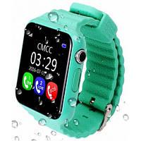 Детские смарт-часы Samtra V7K с GPS зеленые