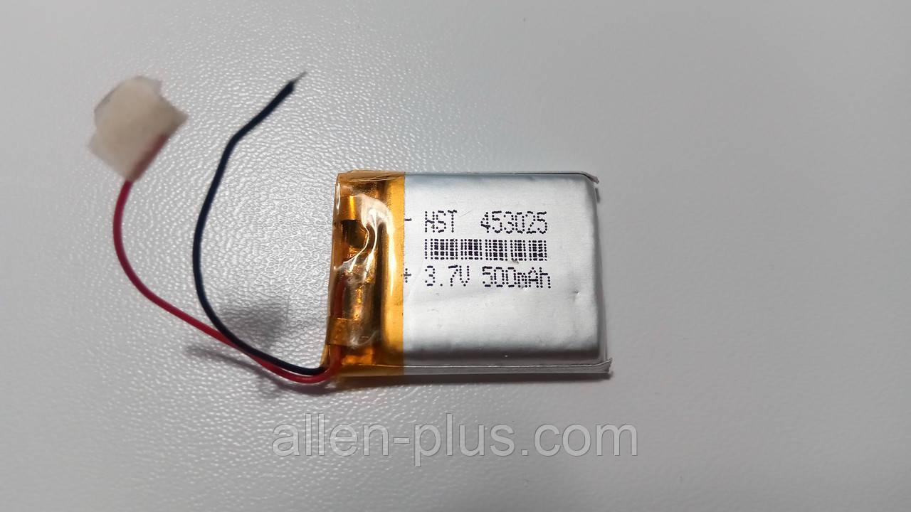 Акумулятор з контролером заряду Li-Pol PL453025 3,7 V 230 mAh (4.5*30*25 мм)