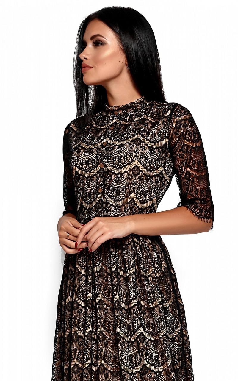 Гіпюрове вечірнє чорне плаття Shanty
