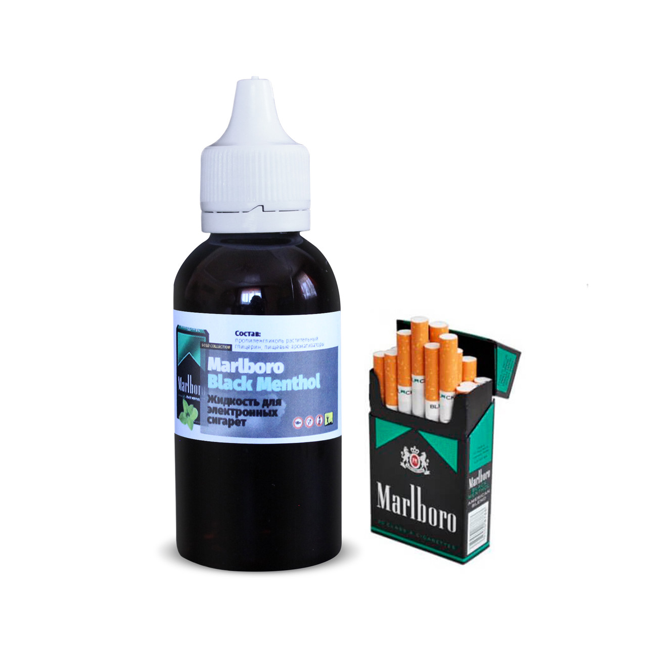 Жидкость для электронных сигарет 4ISTO VAPE Marlboro black menthol 50 мл 0 мг/мл