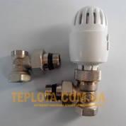 Радиаторный набор CARLO POLETTI (два крана и термоголовка)