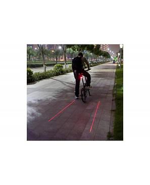 Задняя фара мигалка лазерная дорожка DW-681/9301, 5 LED + 2 LASER (DW-681), фото 2