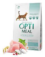 Optimeal Sterilized Adult Cat 4кг - для кастрированных/стерилизованных кошек с индейкой