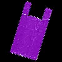 Пакет Майка 50*80 50шт фиолетовый.30 мкм