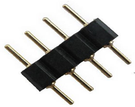 """Коннектор для светодиодных лент OEM №16 Коннектор 4pin-4pin """"папа""""-""""папа"""""""