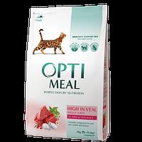 Optimeal High in Veal 4 кг - корм для взрослых кошек с телятиной