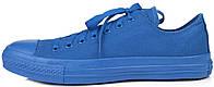 Мужские кеды Converse Chuck Taylor All Star Low Mono Blue Конверс Чак Тейлор Олл Старс синие