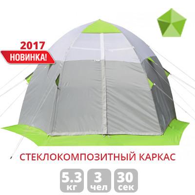 Зимняя палатка Лотос «LOTOS 3 С» (зеленый/оранжевый)