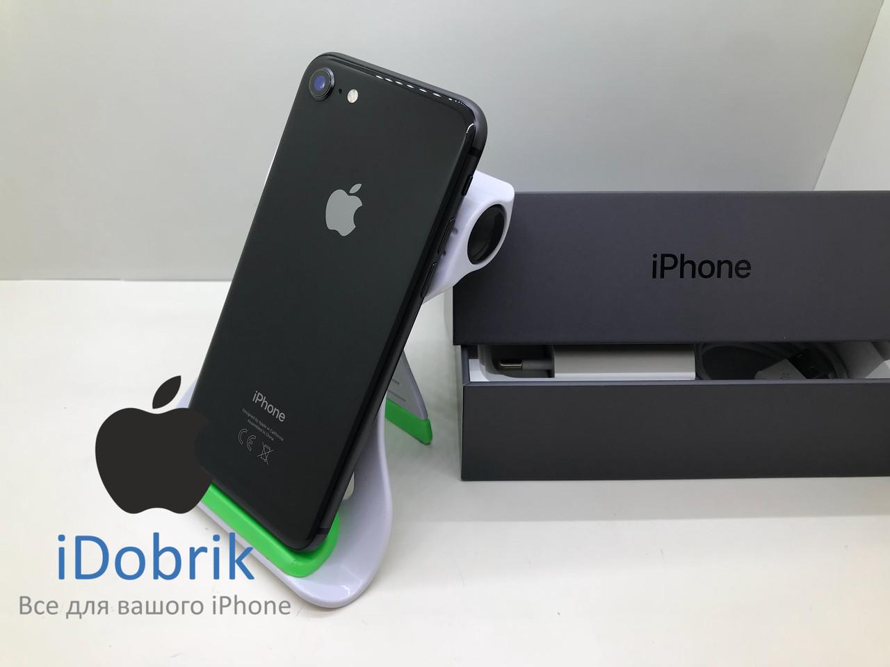 Телефон Apple iPhone 8  64gb  Space Gray  Neverlock  9/10