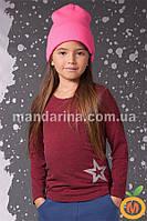 Джемпер ангоровый для девочки 3-6 лет (98, 104, 110, 116)