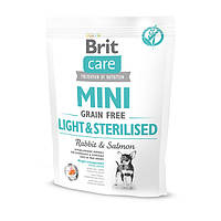 Сухой корм для контроля веса Brit Care GF Mini Light&Sterilised для собак мелких пород 2 кг