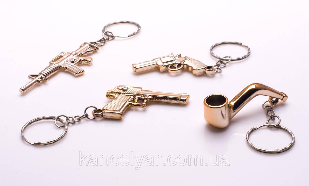 Брелок для ключей, пластик под золото, в ассортименте
