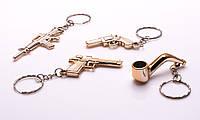 Брелок для ключей, пластик под золото, в ассортименте, фото 1