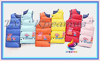 Оптом жилеты детские теплые с лого (пошив под заказ от 50 шт.), фото 1
