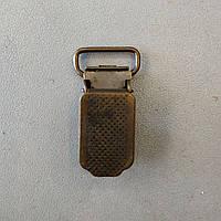 Зажим для подтяжек 15 мм антик