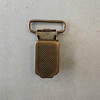 Зажим для подтяжек 20 мм антик