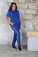 Женский спортивный костюм трикотаж с лампасами, фото 1