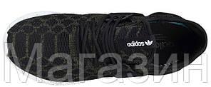 Женские кроссовки Adidas Tubular Runner Primeknit Olives Адидас Тубулар оливковые/черные, фото 2