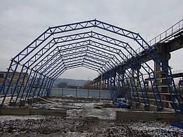 Будівництво арочного складу вторсировини 15*27*7,5 -1