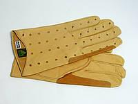 Перчатки автомобильные мужские Alpa Gloves  кожа ягненка бежевые размер 9,5