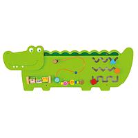 """Настенная игрушка бизиборд Viga Toys """"Крокодил"""" (50469)"""
