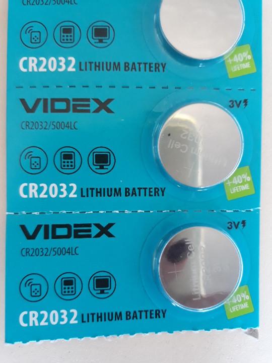 Батарейка дисковая VIDEX CR 2032