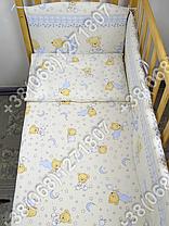 Детское постельное белье и защита (бортик) в детскую кроватку (мишка на месяце бежевый), фото 3