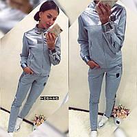 Женский спортивный костюм трикотаж с кожаными вставками, фото 1