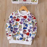Легкий свитер для девочки с мультяшными персонажами, код (38040) в наличии: 100 см,110 см,120 см,130 см,90 см