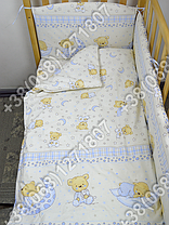 """Детское постельное белье в кроватку """"Бим Бом"""" комплект 6 ед. (мишка на месяце бежевый), фото 3"""