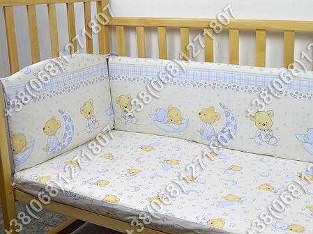 """Детское постельное белье в кроватку """"Бим Бом"""" комплект 6 ед. (мишка на месяце бежевый), фото 2"""