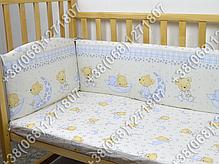 """Детское постельное белье в кроватку """"Бим Бом"""" комплект 5 ед. (мишка на месяце бежевый), фото 2"""