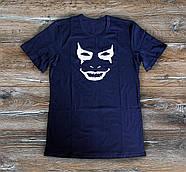Мужская футболка  Джокер Joker темно синяя  (РЕПЛИКА)
