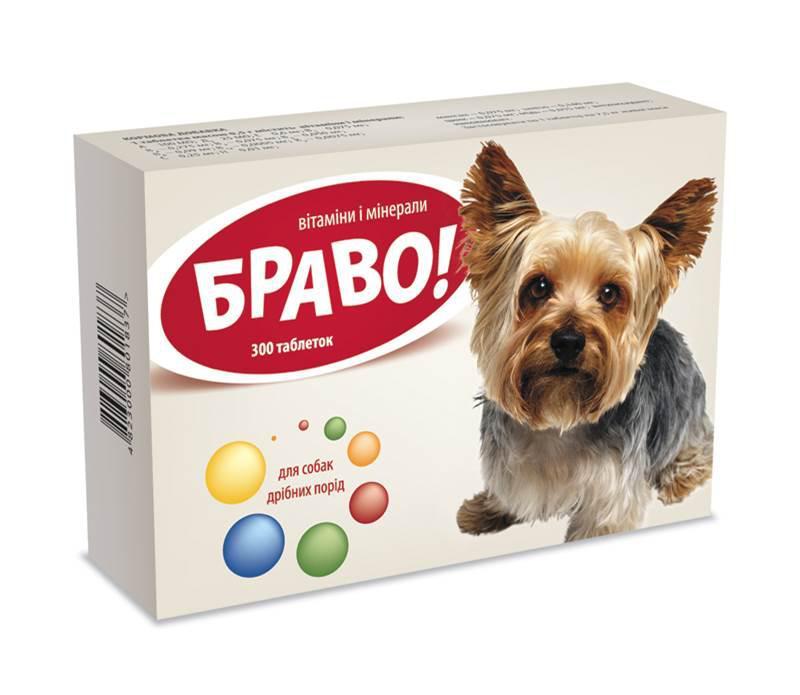 БРАВО витамины и минералы для собак мелких пород, 300 таблеток