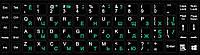 Наклейка на клавіатуру Деколь Value для клавіатури Lat/Ukr/Rus Разные цвета 3 шт (98.00.0003)