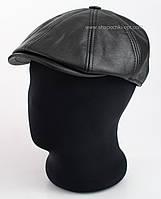 Мужская утепленная кепка восьмиклинка из искусственной кожи