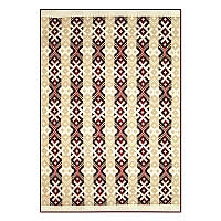 Одеяло Ярослав полушерстяное 140x205 см Бежевый-Коричневый(Yar1229/2.1)