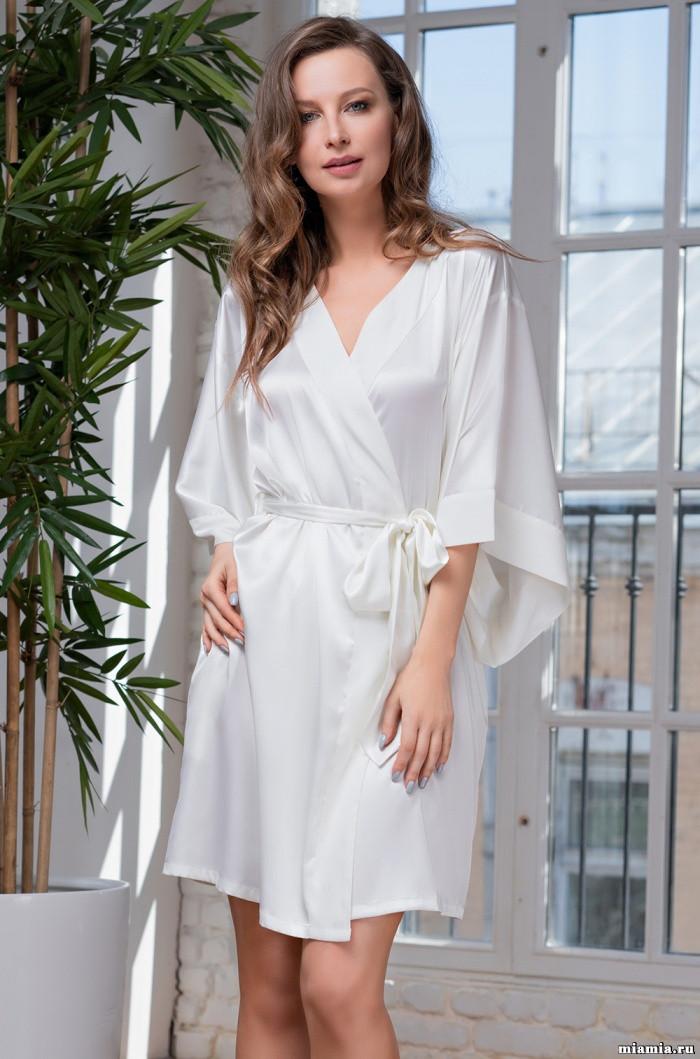 Элегантный халат. Италия Mia-Mia Вероника 8313 молоко