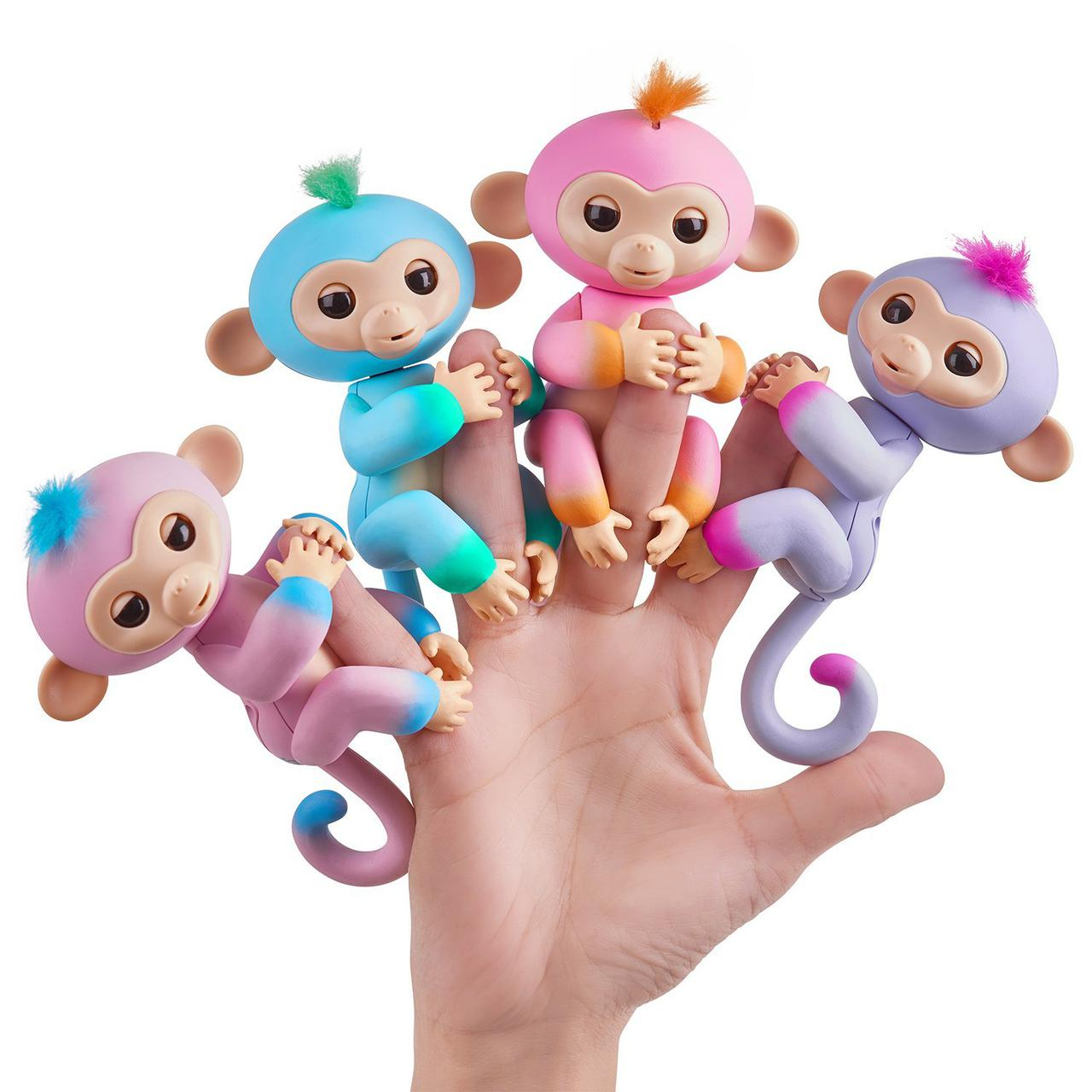 Интерактивная обезьянка двухцветная, WowWee Fingerlings Monkey, оригинал из США