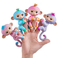 Интерактивная обезьянка двухцветная, WowWee Fingerlings Monkey, оригинал из США, фото 1