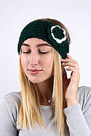 Повязка на голову темно-зеленый