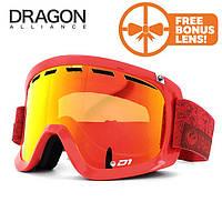 Горнолыжная маска Dragon D1 OTG STONE RED / RED ION + YELLOW RED ION