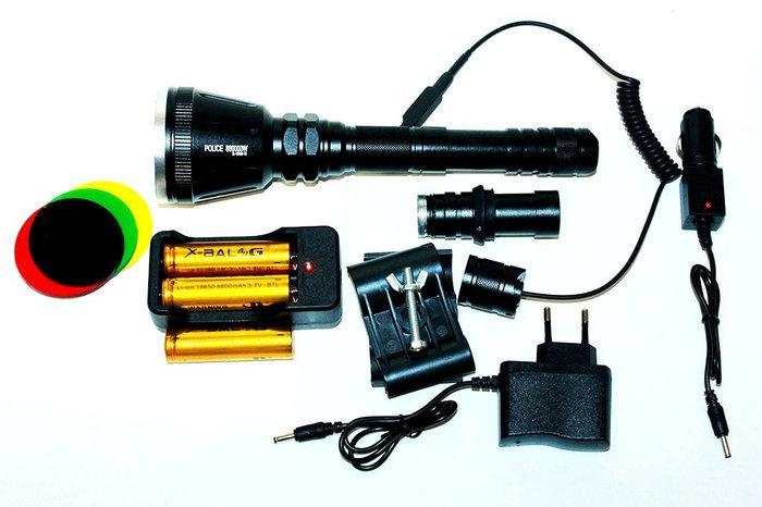 Фонарь тактический Police BL-Q3888-Cree XM-L2 T6 158000W (охотничий)